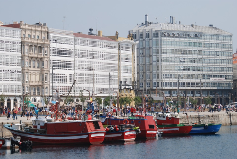 Boats Boat Fishing Spring Coruña Windows Port